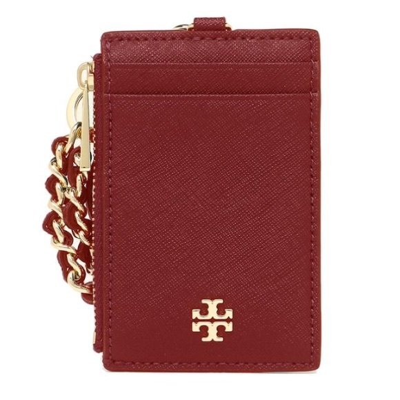 288e8ed88502 Tory Burch Emerson Lanyard   ID Holder Deep Red. NWT